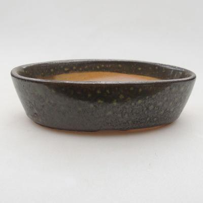 Ceramiczna miska bonsai 14 x 9,5 x 4 cm, kolor zielony - 1