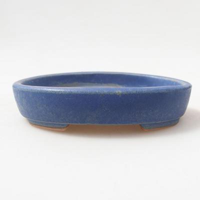Ceramiczna miska bonsai 11 x 9 x 2,5 cm, kolor niebieski - 1