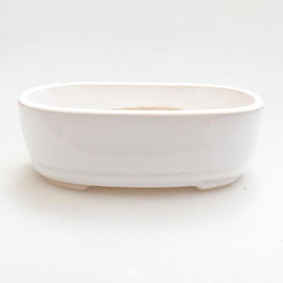 Ceramiczna miska bonsai 12,5 x 8,5 x 3,5 cm, kolor biały - 1