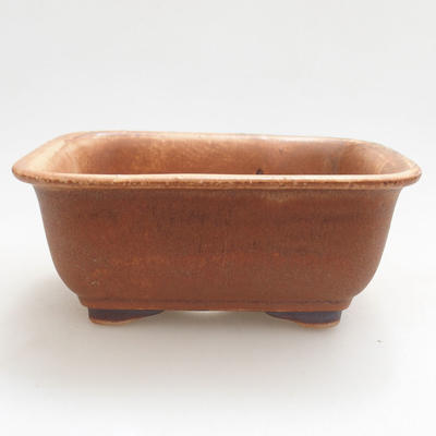 Ceramiczna miska bonsai 13 x 10 x 5,5 cm, kolor cegieł - 1