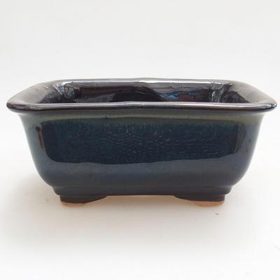 Ceramiczna miska bonsai 13 x 10 x 5,5 cm, kolor brązowo-niebieski - 1