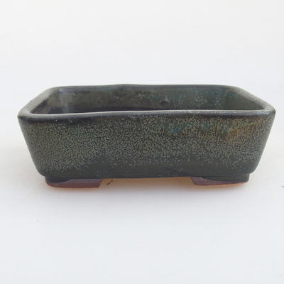 Ceramiczna miska bonsai 12 x 9,5 x 3,5 cm, kolor szary - 1