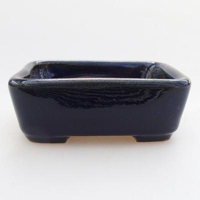 Ceramiczna miska bonsai 9 x 7,5 x 3 cm, kolor niebieski - 1