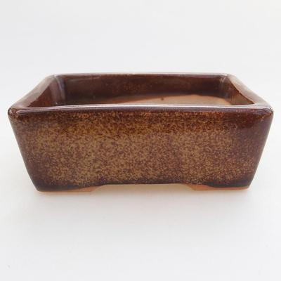 Ceramiczna miska bonsai 9,5 x 7 x 3 cm, kolor brązowy - 1