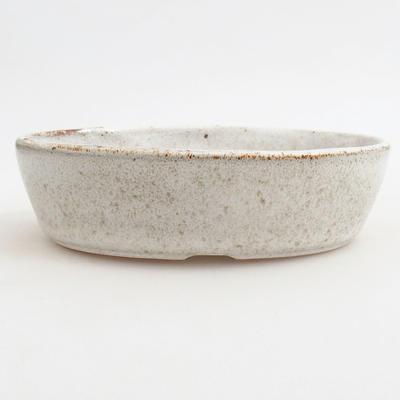 Ceramiczna miska bonsai 14,5 x 9 x 3,5 cm, kolor brązowo-biały - 1