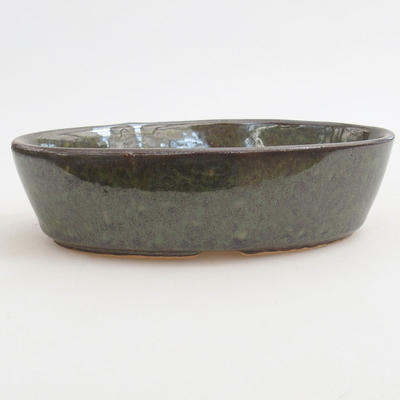 Ceramiczna miska bonsai 14,5 x 9 x 3,5 cm, kolor zielony - 1