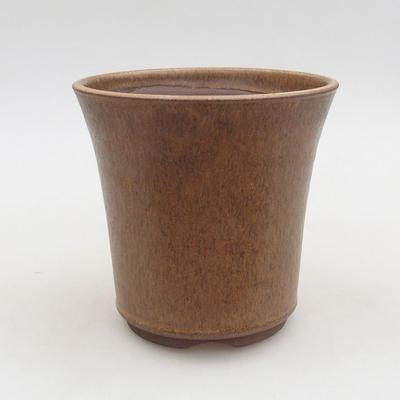 Ceramiczna miska bonsai 13 x 13 x 12,5 cm, kolor brązowy - 1