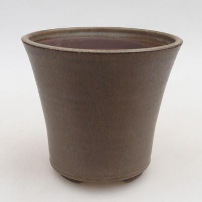 Ceramiczna miska bonsai 12,5 x 12,5 x 11 cm, kolor brązowy - 1