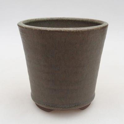 Ceramiczna miska bonsai 10,5 x 10,5 x 10 cm, kolor zielony - 1