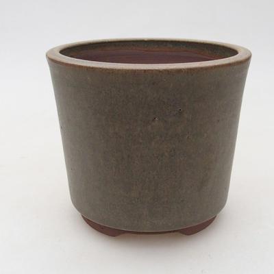 Ceramiczna miska bonsai 10,5 x 10,5 x 9 cm, kolor brązowo-zielony - 1