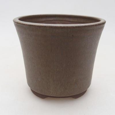 Ceramiczna miska bonsai 11 x 11 x 9 cm, kolor brązowy - 1