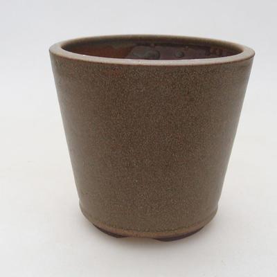 Ceramiczna miska bonsai 10 x 10 x 9,5 cm, kolor brązowy - 1