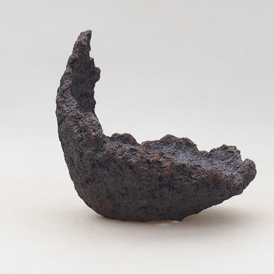 Ceramiczna skorupa 13,5 x 13 x 16 cm, kolor szaro-brązowy - 1