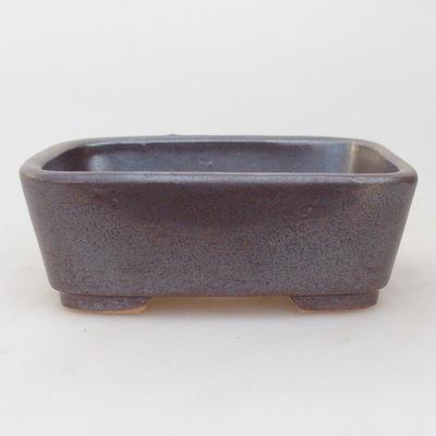 Ceramiczna miska bonsai 9,5 x 8 x 3,5 cm, kolor brązowy - 1