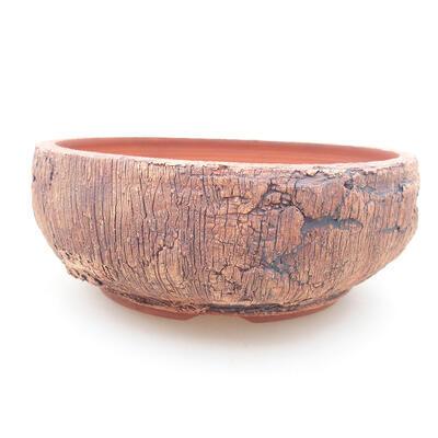 Ceramiczna miska bonsai 16 x 16 x 6 cm, kolor spękany - 1