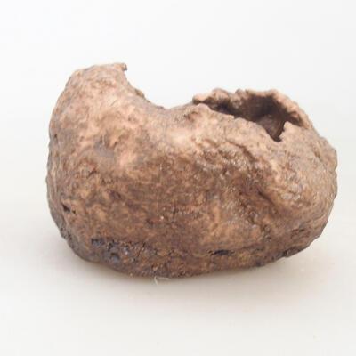 Ceramiczna skorupa 7 x 6 x 6 cm, kolor brązowo-różowy - 1