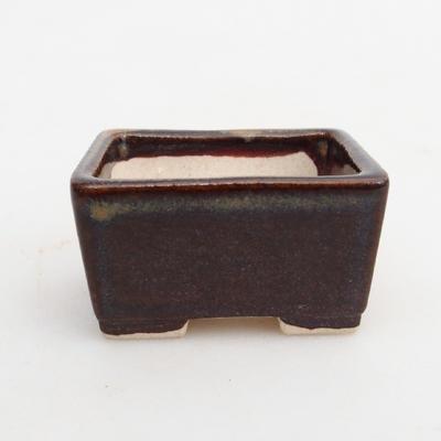 Mini miska bonsai 4 x 3,5 x 2,5 cm, kolor brązowy - 1