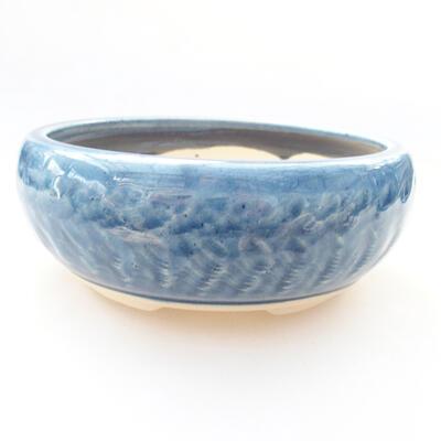 Ceramiczna miska bonsai 14 x 14 x 5,5 cm, kolor niebieski - 1