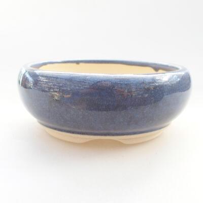 Ceramiczna miska bonsai 10 x 10 x 4 cm, kolor fioletowy - 1