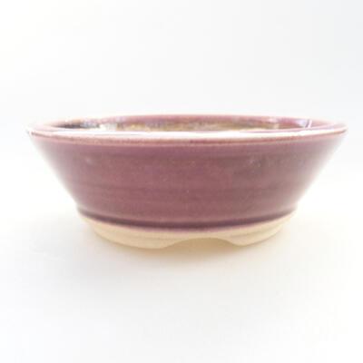 Ceramiczna miska bonsai 11,5 x 11,5 x 4 cm, kolor fioletowy - 1