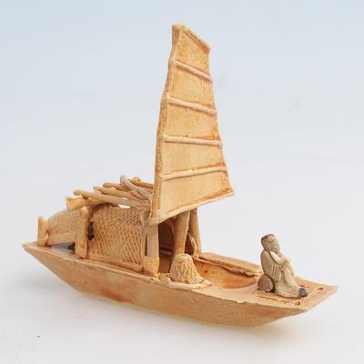 Figurka ceramiczna - statek - 1