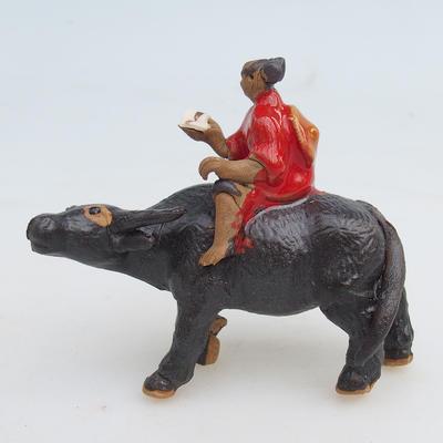 Figurka ceramiczna - bawół - 1