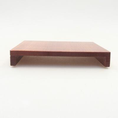 Drewniany stół pod bonsai brązowy 12 x 9 x 1,5 cm - 1