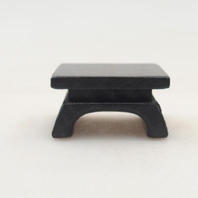 Drewniany stół pod bonsai brązowy 3 x 3 x 1,5 cm - 1
