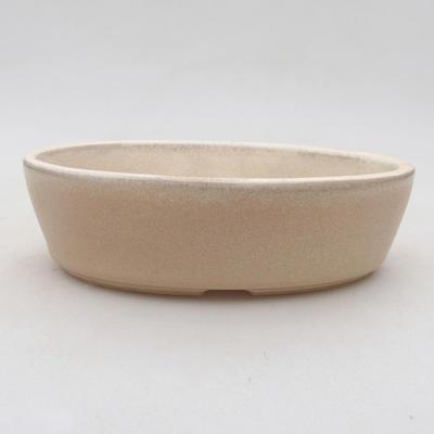 Ceramiczna miska bonsai 14 x 9,5 x 4 cm, kolor beżowy - 1