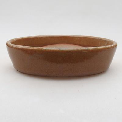 Ceramiczna miska bonsai 16 x 11,5 x 4 cm, kolor brązowy - 1