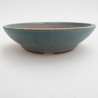 Ceramiczna miska bonsai 12 x 12 x 3,5 cm, kolor zielony - 1