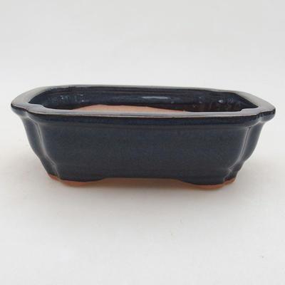 Ceramiczna miska bonsai 15 x 11,5 x 4,5 cm, kolor niebieski - 1
