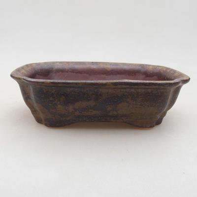 Ceramiczna miska bonsai 15 x 12 x 4 cm, kolor brązowy - 1