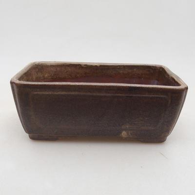 Ceramiczna miska bonsai 13 x 9 x 4,5 cm, kolor brązowy - 1