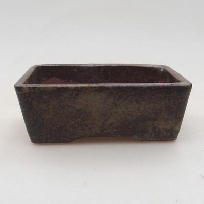 Ceramiczna miska bonsai 9 x 7 x 4 cm, kolor szary - 1