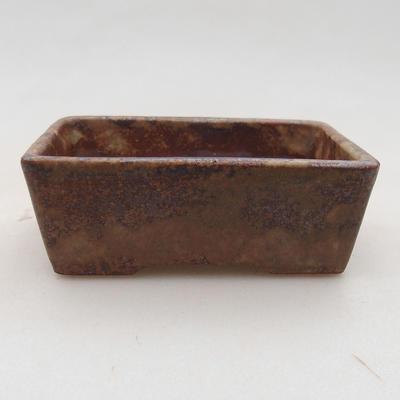 Ceramiczna miska bonsai 9 x 7 x 4 cm, kolor brązowy - 1