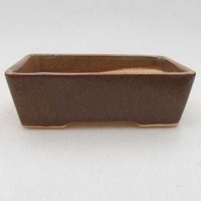 Ceramiczna miska bonsai 12 x 9 x 3,5 cm, kolor brązowy - 1