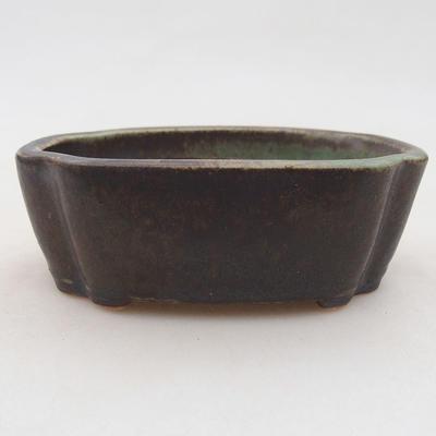 Ceramiczna miska bonsai 10 x 7,5 x 3,5 cm, kolor zielony - 1