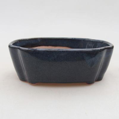 Ceramiczna miska bonsai 10 x 7,5 x 3,5 cm, kolor niebieski - 1