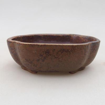 Ceramiczna miska bonsai 10 x 8 x 3 cm, kolor brązowy - 1