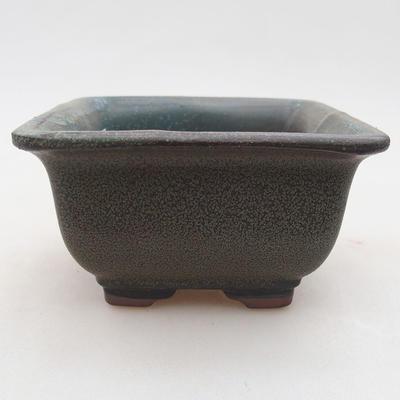 Ceramiczna miska bonsai 9 x 9 x 5,5 cm, kolor szary - 1