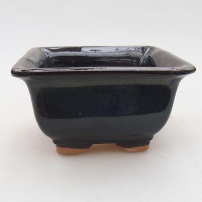 Ceramiczna miska bonsai 9 x 9 x 5,5 cm, kolor niebieski - 1