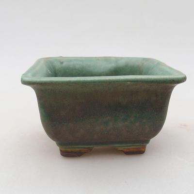 Ceramiczna miska bonsai 9 x 9 x 5,5 cm, kolor zielony - 1