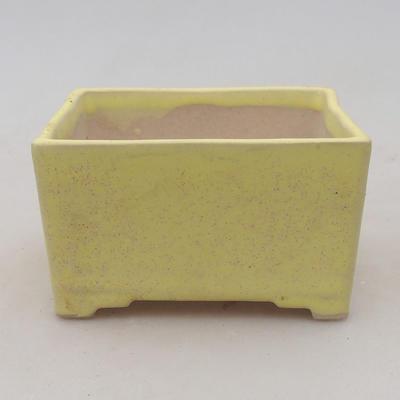 Ceramiczna miska bonsai 8,5 x 8,5 x 4,5 cm, kolor żółty - II gatunek - 1