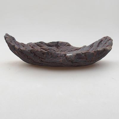 Ceramiczna miska bonsai 17 x 11 x 5 cm, kolor szary - II gatunek - 1
