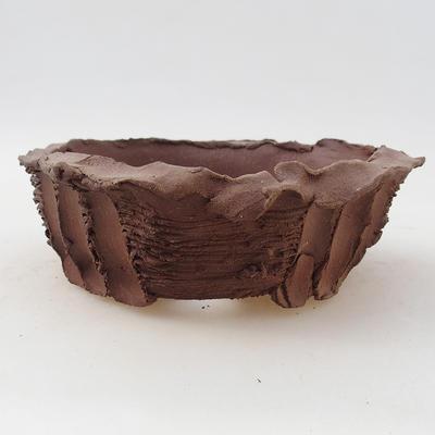 Ceramiczna miska bonsai 13 x 13 x 4,5 cm, kolor szary - II gatunek - 1