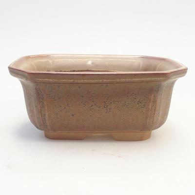 Miska Bonsai 14,5 x 12 x 6,5 cm, kolor brązowy - 1
