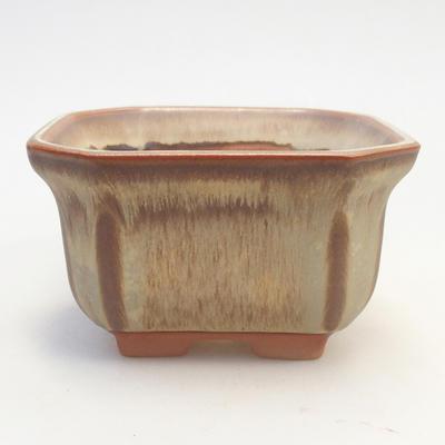 Miska Bonsai 11 x 11 x 6,5 cm, kolor brązowo-beżowy - 1