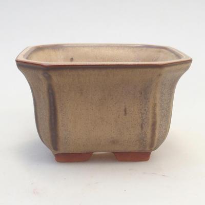 Miska Bonsai 12 x 12 x 7 cm, kolor brązowo-beżowy - 1