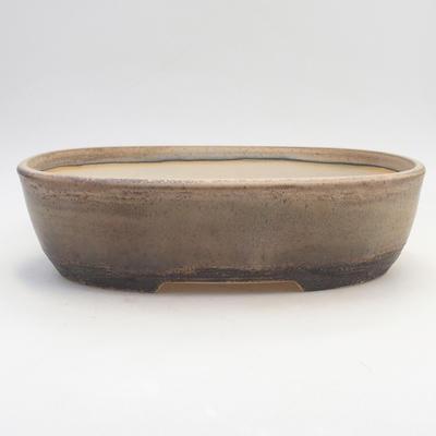 Miska Bonsai 29,5 x 23 x 8 cm, kolor brązowo-beżowy - 1